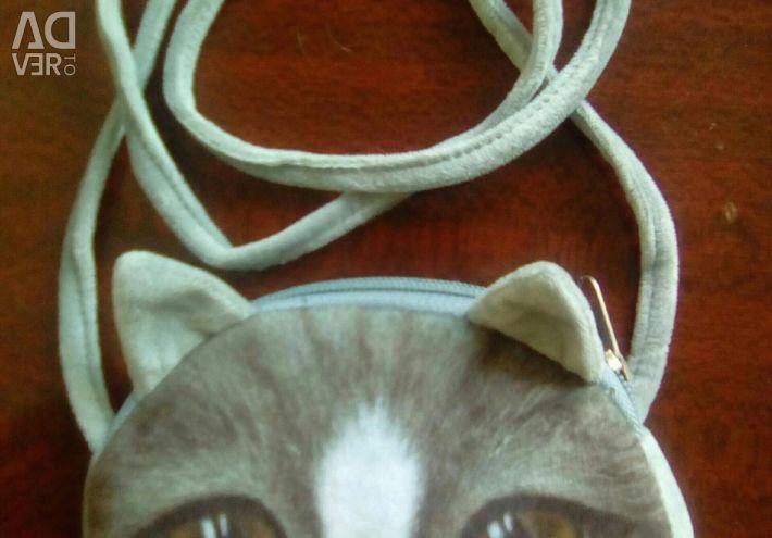 Сумочка новая 3D кошка