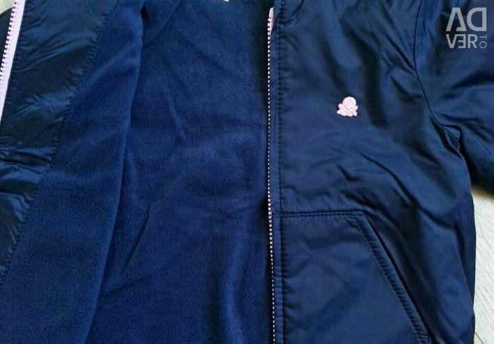 New Windbreaker on fleece, p.110cm