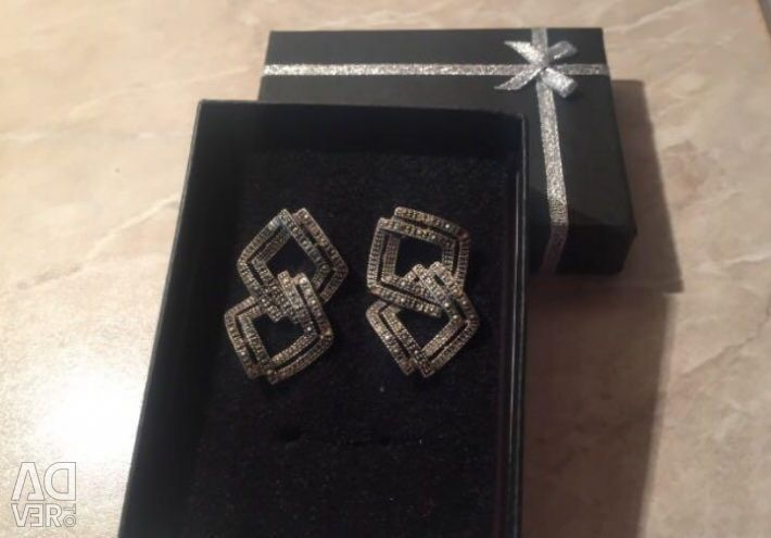 Silver earrings 925 for a gift