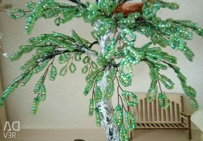 Trees from beads.