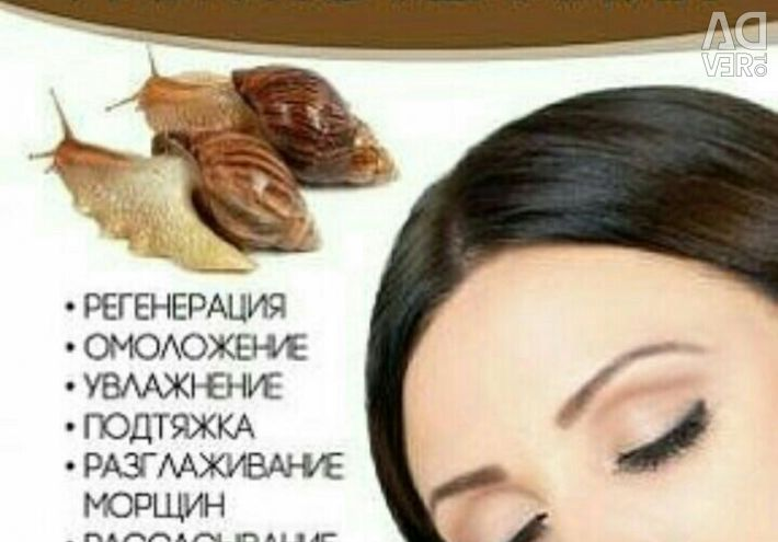 Facial rejuvenation services, snail therapy