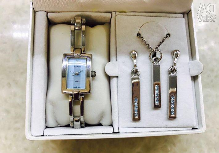 Henley Glamour σύνολο: ρολόι / κολιέ / σκουλαρίκια