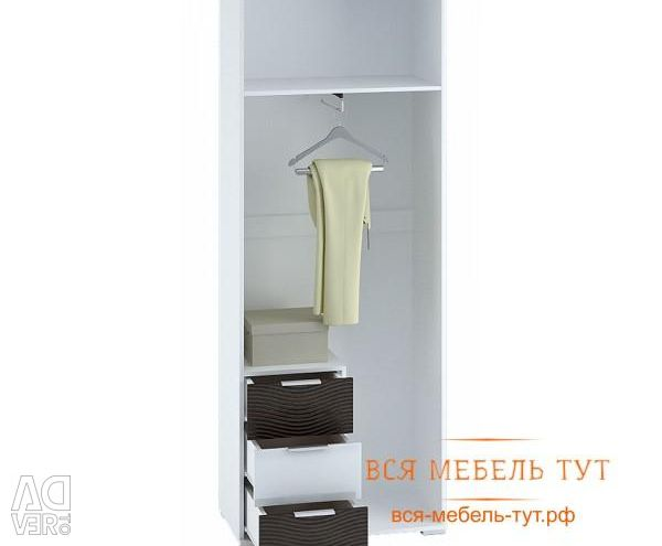 Wardrobe 2-casement with drawers 800