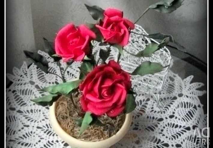 Foma'dan iç mekan kompozisyonu RED ROSES