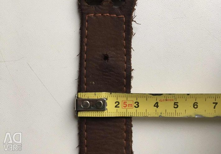 Second-hand women's belt from genuine leather