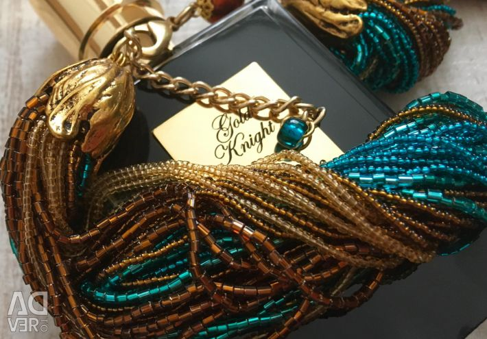 Ожерелье из венецианского бисера 36 нити, янтарное