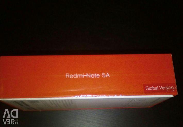 Noul Xiaomi Redmi Notă 5A versiune globală