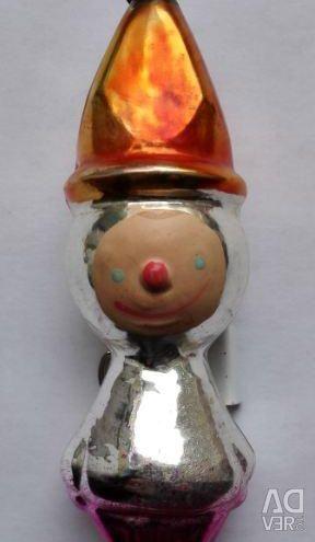 Jucărie de pom de Crăciun Fericit Om de zăpadă din URSS 50s