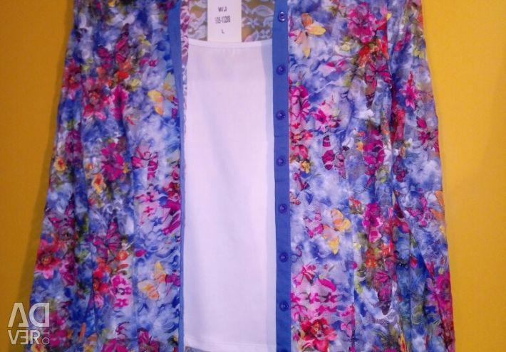 Shirt openwork + T-shirt 42-44р