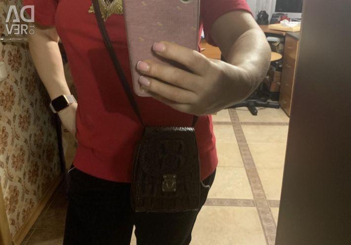 Παιδική τσάντα από γνήσιο δερμάτινο κροκόδειλο