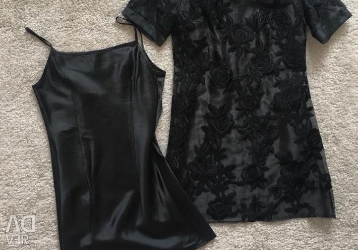 Платье+комбинация новое