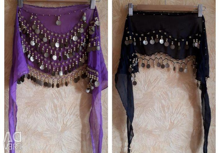 Belt from mannets for oriental dances. handkerchief