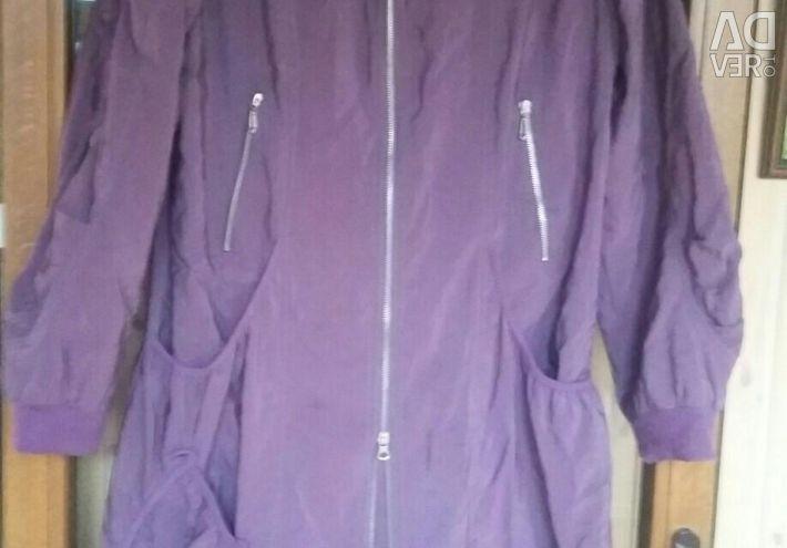 Insulated, lightweight raincoat.