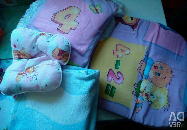 Bathing baby, body, blanket, mattress