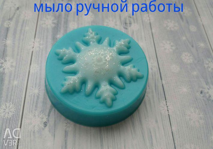 Мыло снежинка