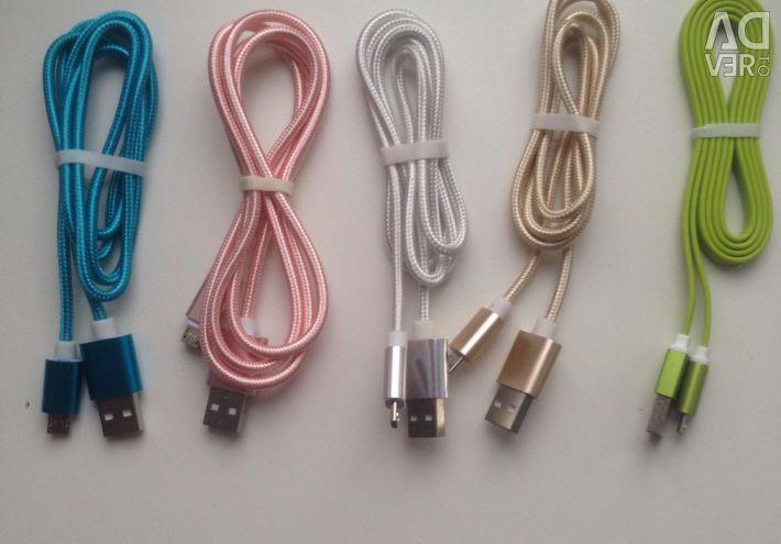 Android și cablu de încărcare Apple