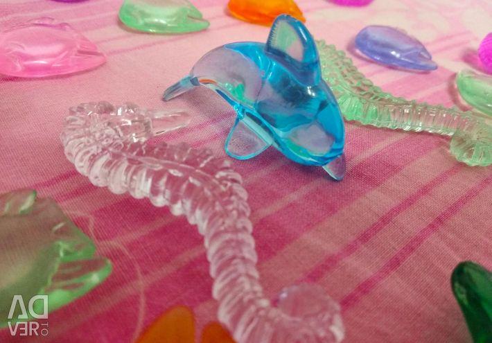 Διακοσμητικά σχέδια από πλαστικό. Διαφορετικά σύνολα