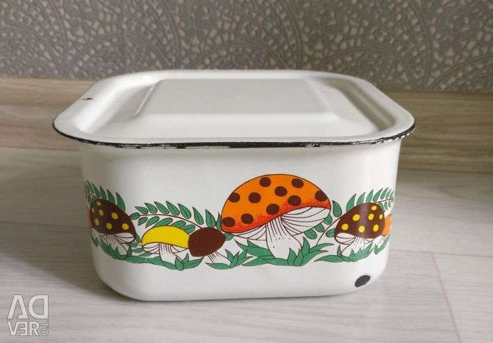Soviet era butter dish