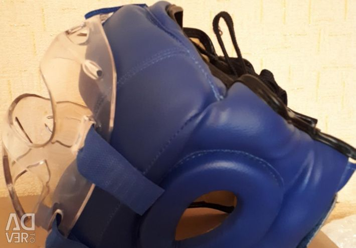 Helmet-mask for hand-to-hand combat blue. R: M
