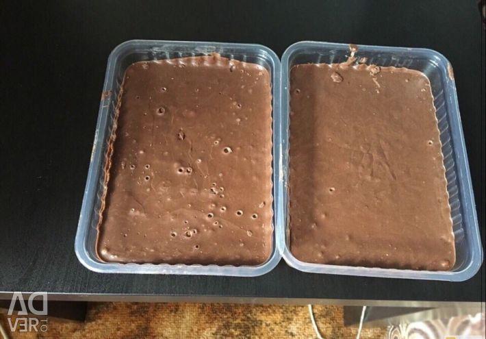 Chocolate in briquettes