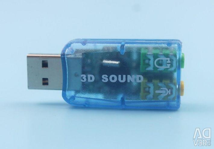 USB mini 3D sound sound card
