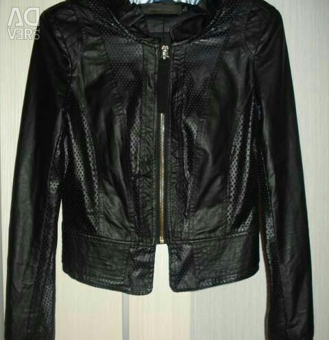 Shortened jacket / eco-leather jacket