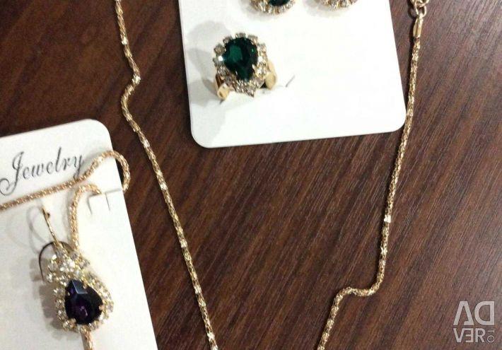 Κολιέ + Σκουλαρίκια + Δαχτυλίδι