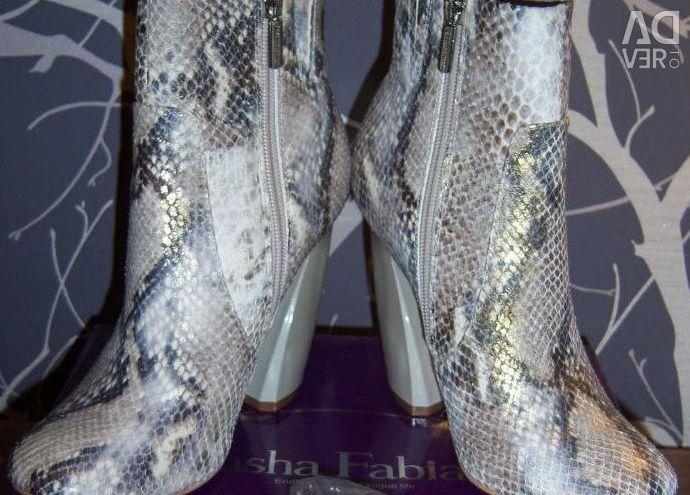NOUA jumătate de cizme Sasha Fabiani, p. 36 (piele cobra)