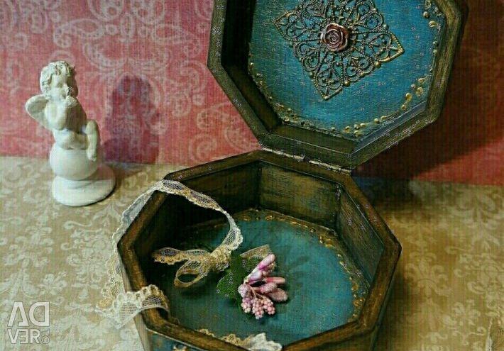 Шкатулка подарки декупаж ручная работа винтаж