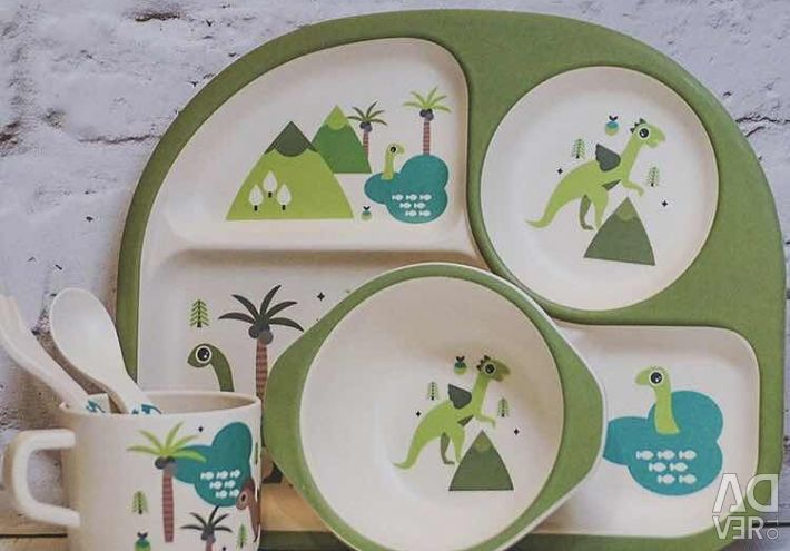 ECO dishes for babies from bamboo