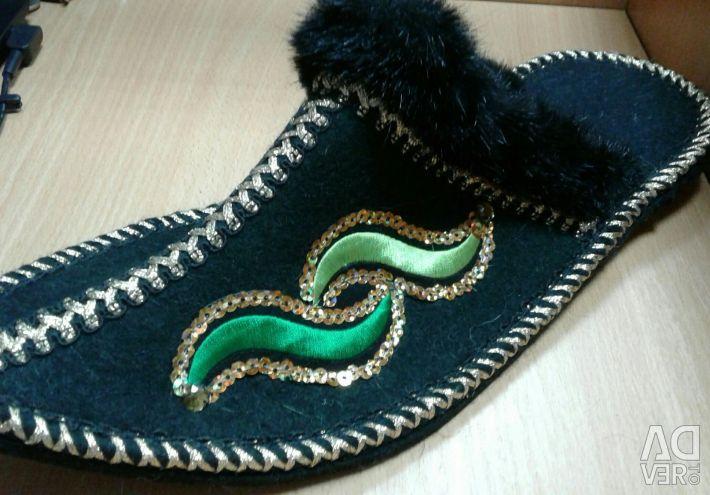 Slippers are felt