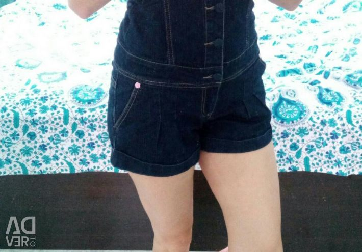 The overalls are jeans