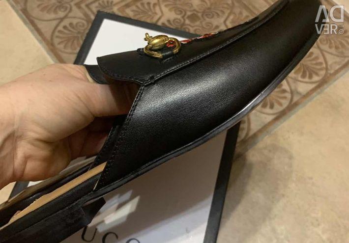 Παπούτσια (στρωτήρες) Gucci, δέρμα, πολυτελή ποιότητα
