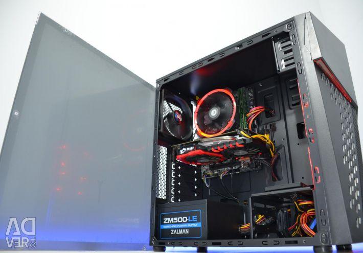 Игровой ПК AMD Athlon X4/GTX 4Gb/ SSD /8Gb