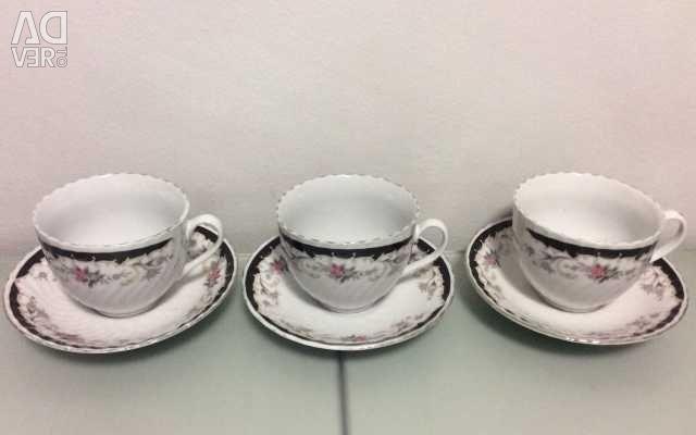 Чайные чашки с блюдцами. Обмен.