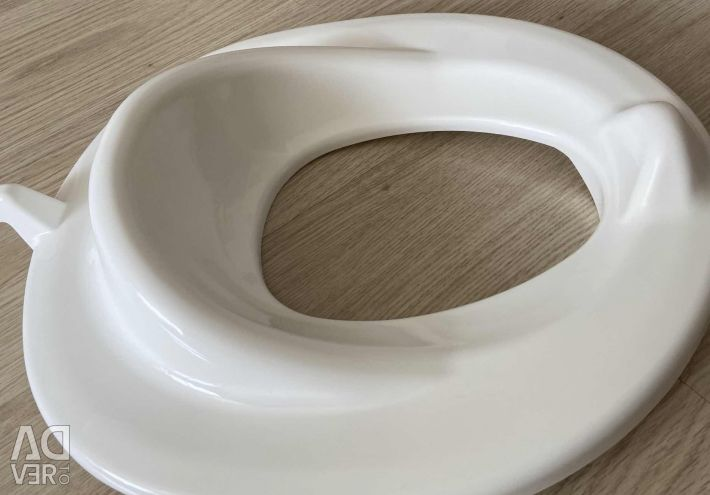 The toilet seat is new