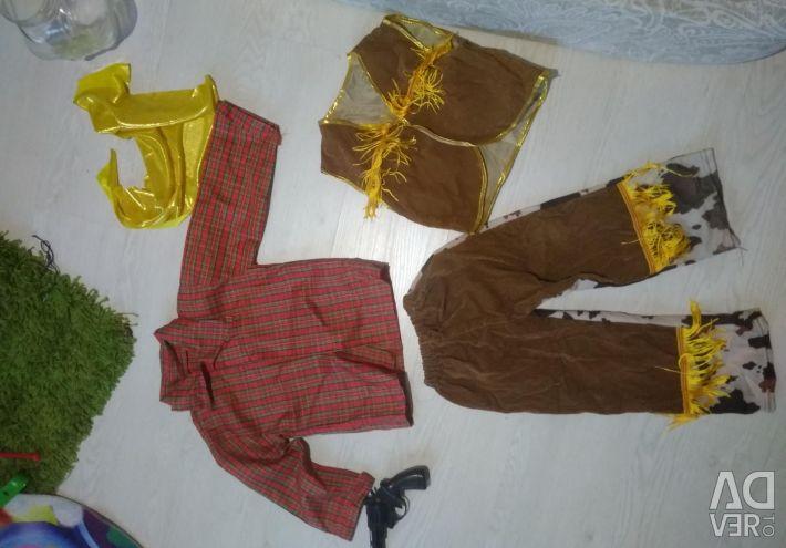 Costum de cowboy pentru un copil de 2-3 ani