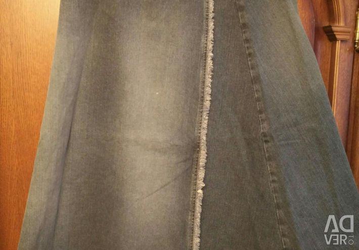 Джинсова спідниця нова 46-48 розмір