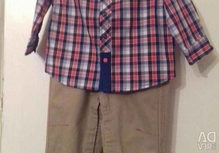 New children's shirt and jeans