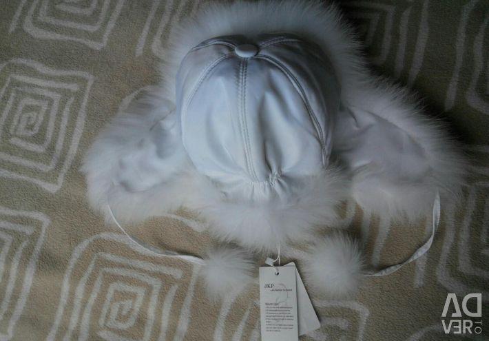 Νέο καπέλο με φυσική γούνα