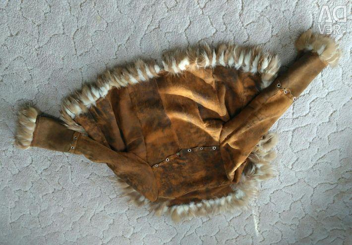 Piele de oaie din piele de oaie cu bucăți naturale de blană