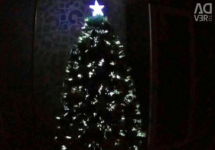 Pom de Crăciun verde cu ace LED