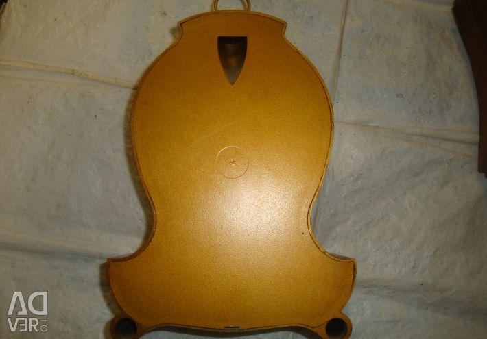 Clock spring mechanics USSR / amber quartz