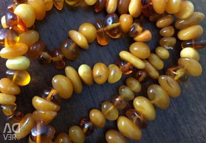 Beads amber vintage