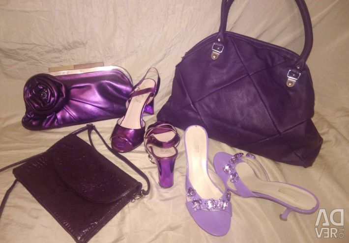 Sandals and bag