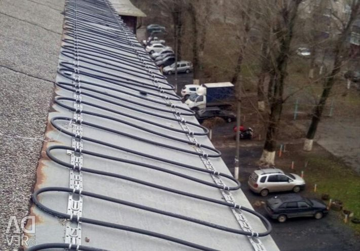 Cable heating roof