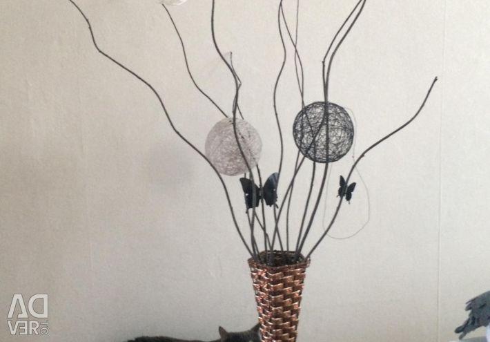 Vaza de podea lucrat manual cu sprigs