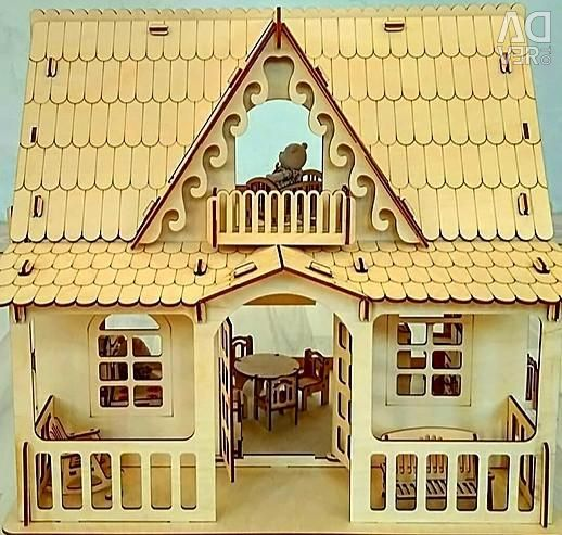 Wooden Country Country Dollhouse