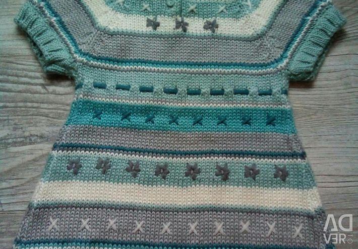 Вязаное платье р.2-3г. Германия