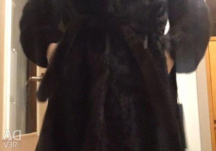 New mink coat (90 cm)